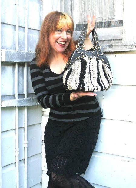 Black crochet skirt, crochet handbag, both thrifted: Crochet Bags, Bags Crochet, Bobble Bag, Crochet Skirts, Jazzy Bag, Crochet Handbags