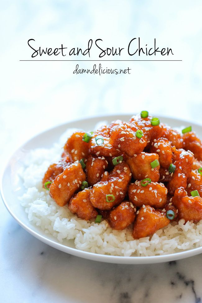 Baked Sweet and Sour Chicken Recipe ~ No need to order take-out anymore - this homemade version is so much healthier and a million times tastier!