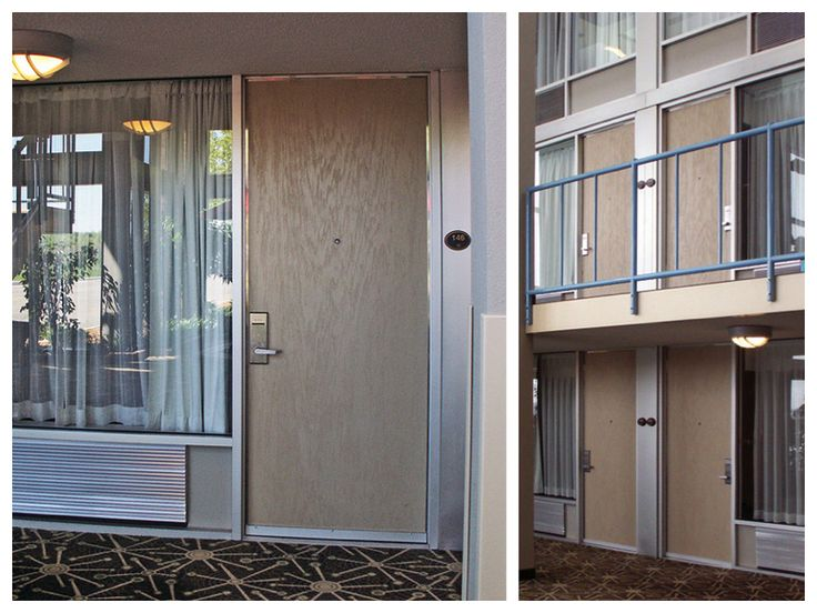 Wood Grain Fire Rated Doors on Hotel
