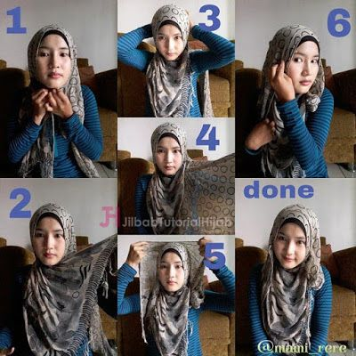 Hijab Tutorial - Tutorial Hijab Pashmina untuk ke Kantor glamour terbaru