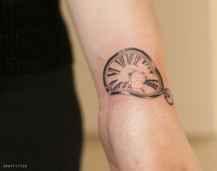 달리 시계 타투 by 타투이스트 리버 / Dali clock Tattoo by Tattooist River / 손목 타투 / 손목 문신 / 분당 문신 타투