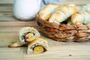 Rezept für Croissant mit Nutella und Banane