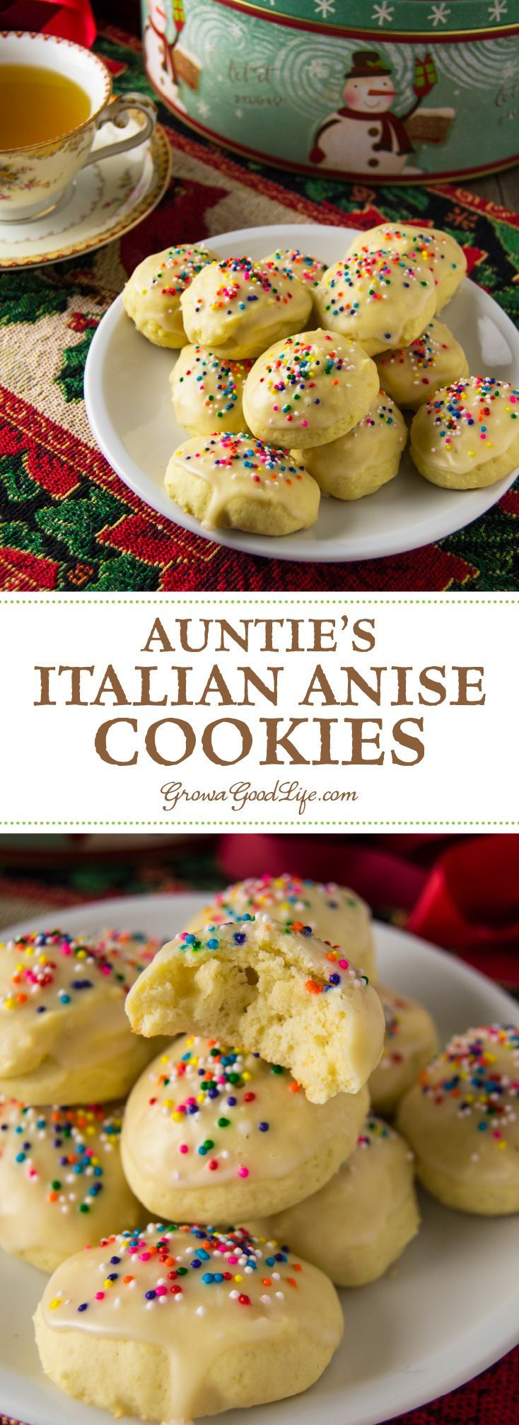 A bite of these Italian anise cookies will bring back any Italian-American's memories of childhood Christmases with family.