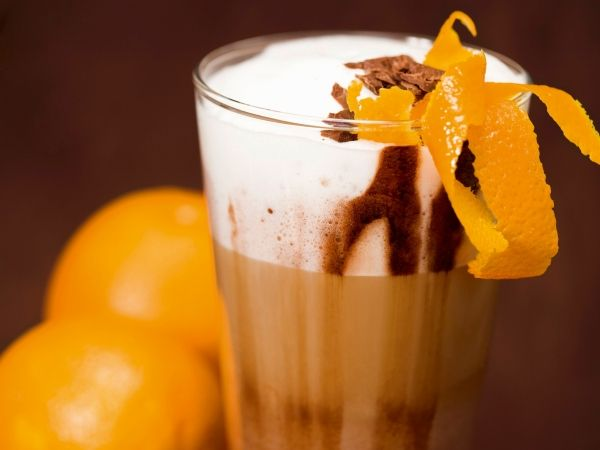 Latte macchiato met sinaasappellikeur - Libelle Lekker!