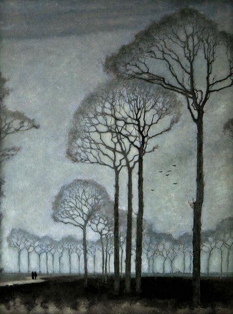 wasbella102: Mankes, Jan (Dutch, 1889-1920) - Row of Trees - 1915 by *Huismus on Flickr (via Pinterest) ladylimoges:
