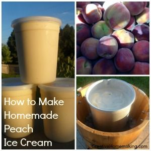 How to make delicious homemade peach ice cream with an electric ice cream maker.