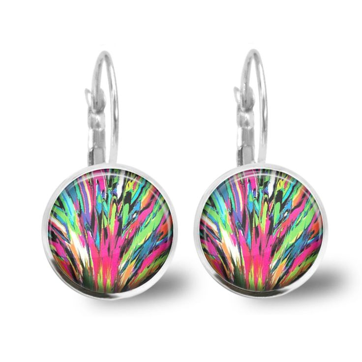 Chatterbox City - Colour Splash Lever Back Glass Cabochon Earrings, $10.00 (http://www.chatterboxcity.com.au/colour-splash-lever-back-glass-cabochon-earrings/)