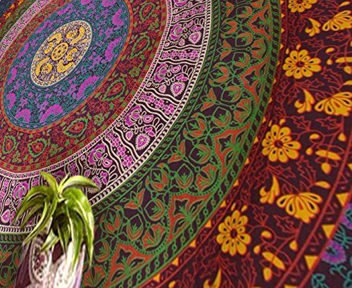 Popular Handicrafts Large Hippie Tapestry Hippy Mandala Bohemian Tapestries Indian Dorm Decor Psychedelic Tapestry Wall Hanging Ethnic Decorative Tapestry 84x90 inches Multi Color >>> Check out this great product.