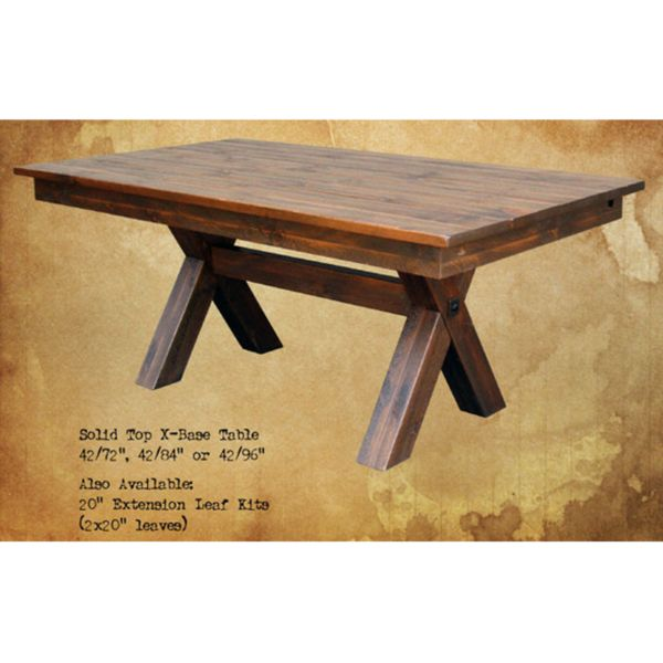 Country Furniture - Summerland Valley X-Base Dining Table