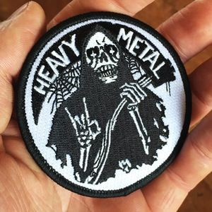 """Image of HEAVY METAL 3"""" embroidered patch - Becky Cloonan"""
