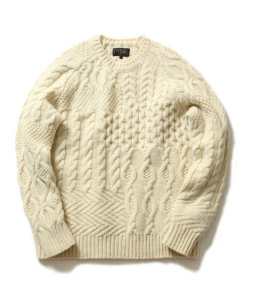BEAMS PLUS クレイジーアランニット Alan Knit, Crazy Pattern