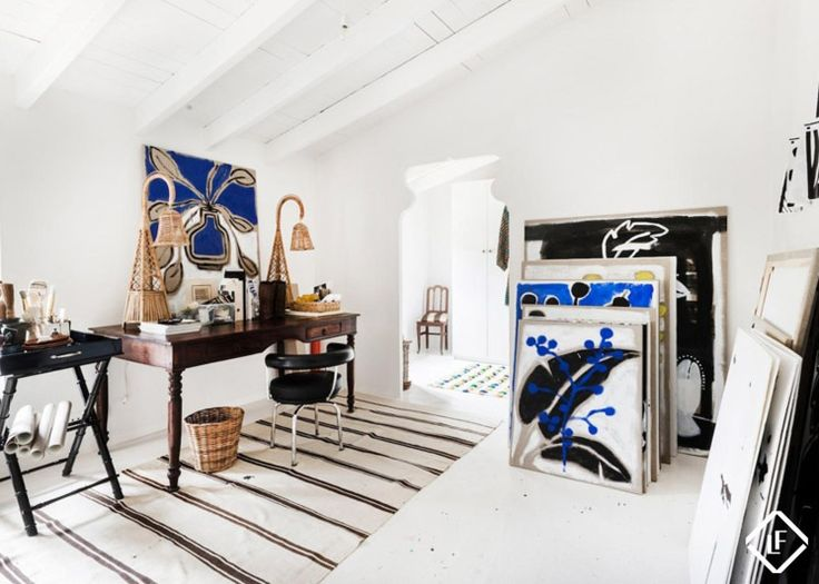 Danish fashion designer Malene Birger's workspace in Mallorca
