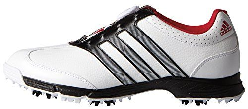 adidas Womens W Response Boa Golf Spiked FTWR WhiteCore BlackBold Red 65 M US * Visit the image link more details.