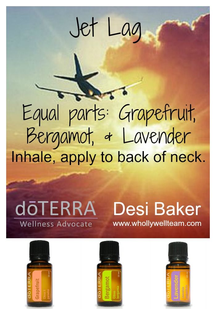 essential oils for jet lag