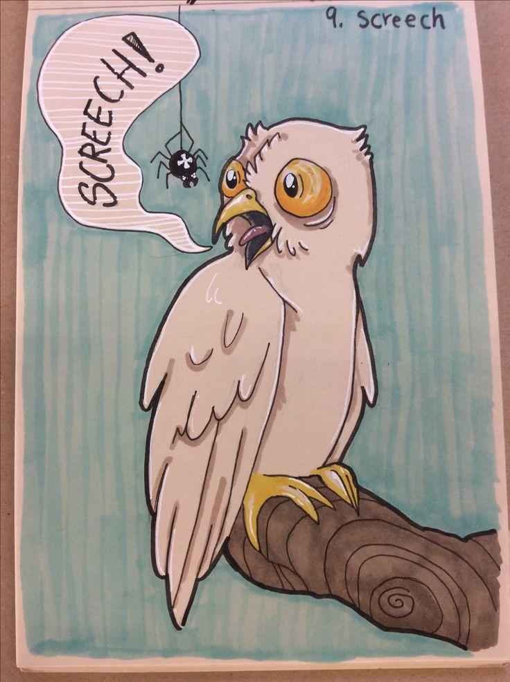 #inktober #inktober2017 #screech #owl