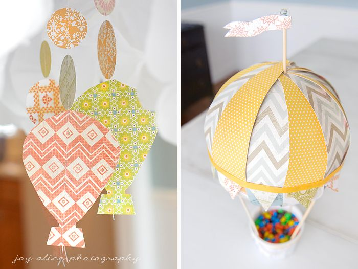 Joy's Blog: Over the Moon! Our Hot Air Balloon Baby Shower #babyshower #hotairballoon