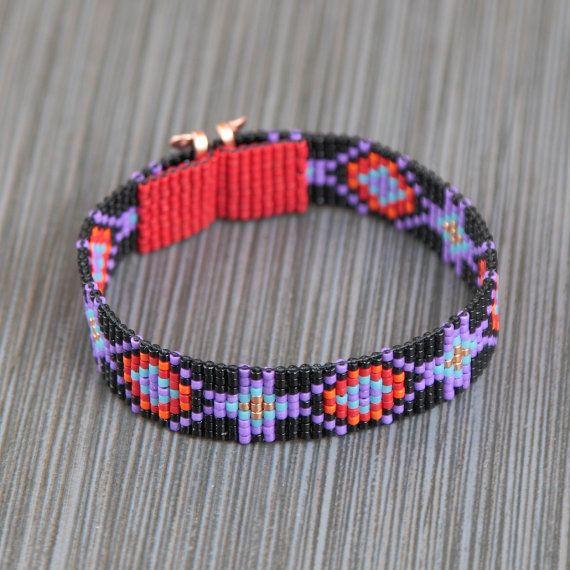Edgewood Twist perlina Loom Bracciale Boho Bohemian artigianale gioielli perlina occidentale Santa Fe nativo americano ispirato del sud-ovest