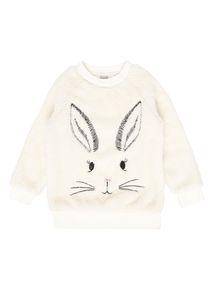 Girls Cream Bunny Fleece (3-12 years)
