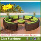 Royal sofá seccional de mimbre rattan muebles de jardín al aire libre