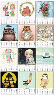 { free owl 2012 calendar }
