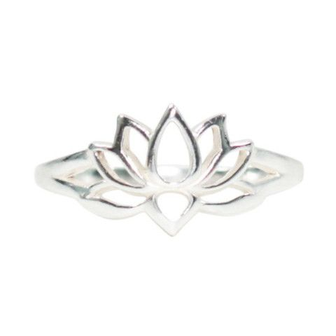 Lotus Ring in Sterling Silver, #7226S
