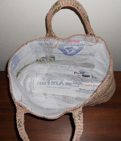 #plarn Shopping Bag linning