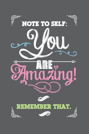 Free You Are Amazing Inspirational Printable