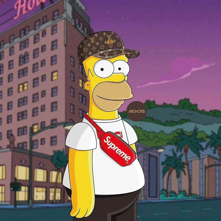 Supreme The Simpsons: Pin By Miles Guillory On Swag