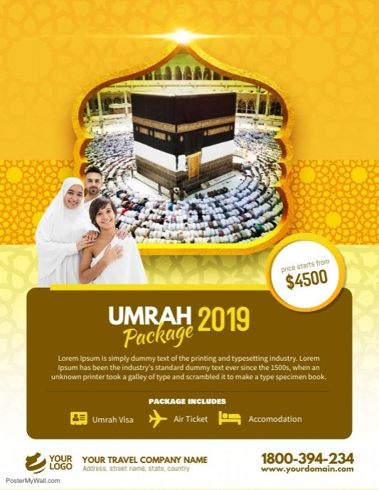 Hajj Umrah Package Flyer Poster
