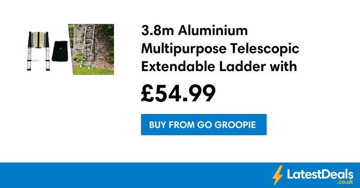 3.8m Aluminium Multipurpose Telescopic Extendable Ladder with Carrybag, £54.99 at Go Groopie