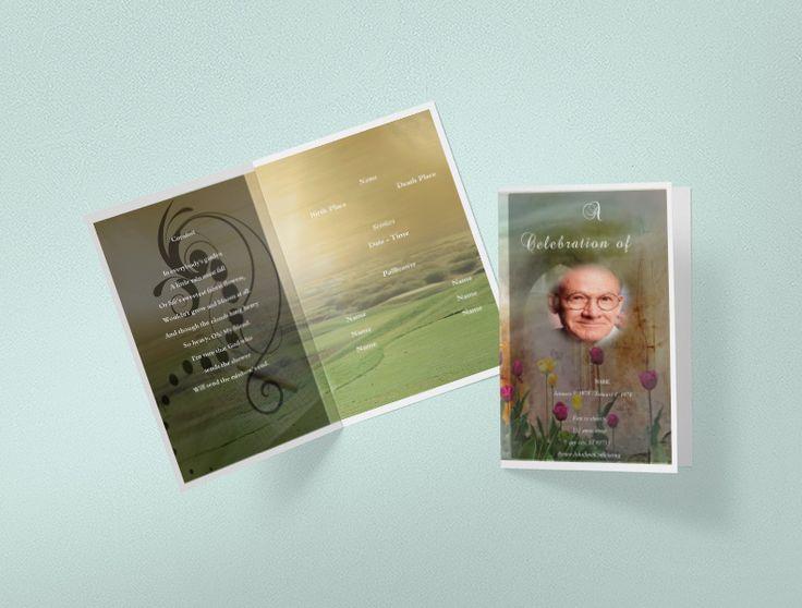 Pinterestu0027teki 25u0027den fazla en iyi Funeral program template free - funeral templates free