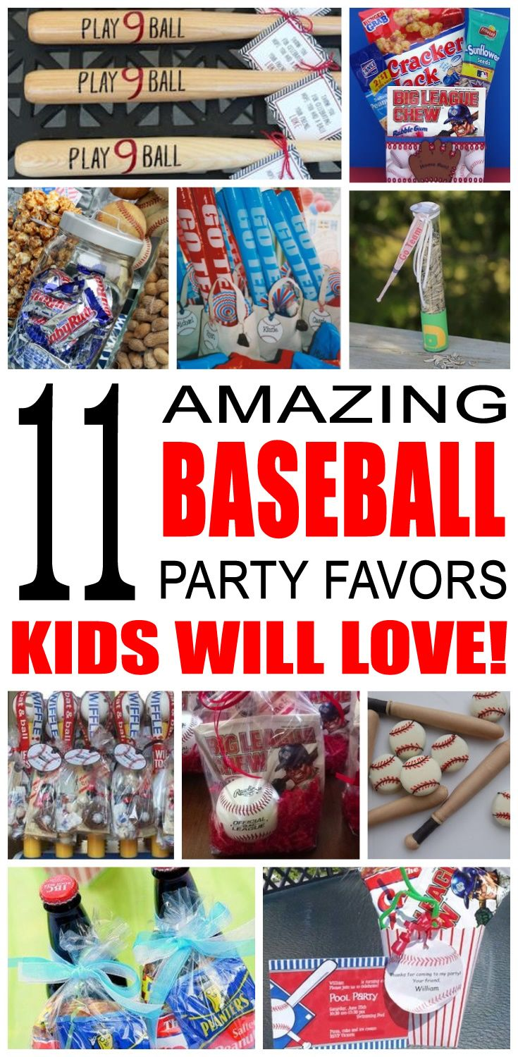 Fun baseball party favor ideas for kids and teens. Try these diy baseball party favors for boys and girls. Here are some easy goody bags and treats to say thank you to the friends of that special birthday child.