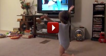 One Happy Toddler Tries Out Some Classic Dance Moves - Way to Boogie, Baby! - Funny Video