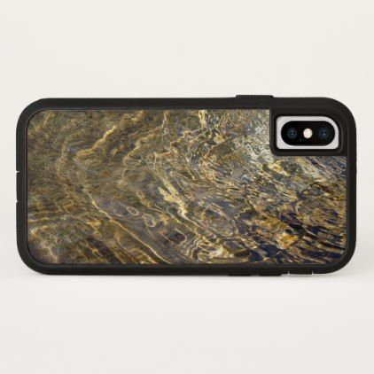 Rippling Golden Fountain Water iPhone Case - patterns pattern special unique design gift idea diy
