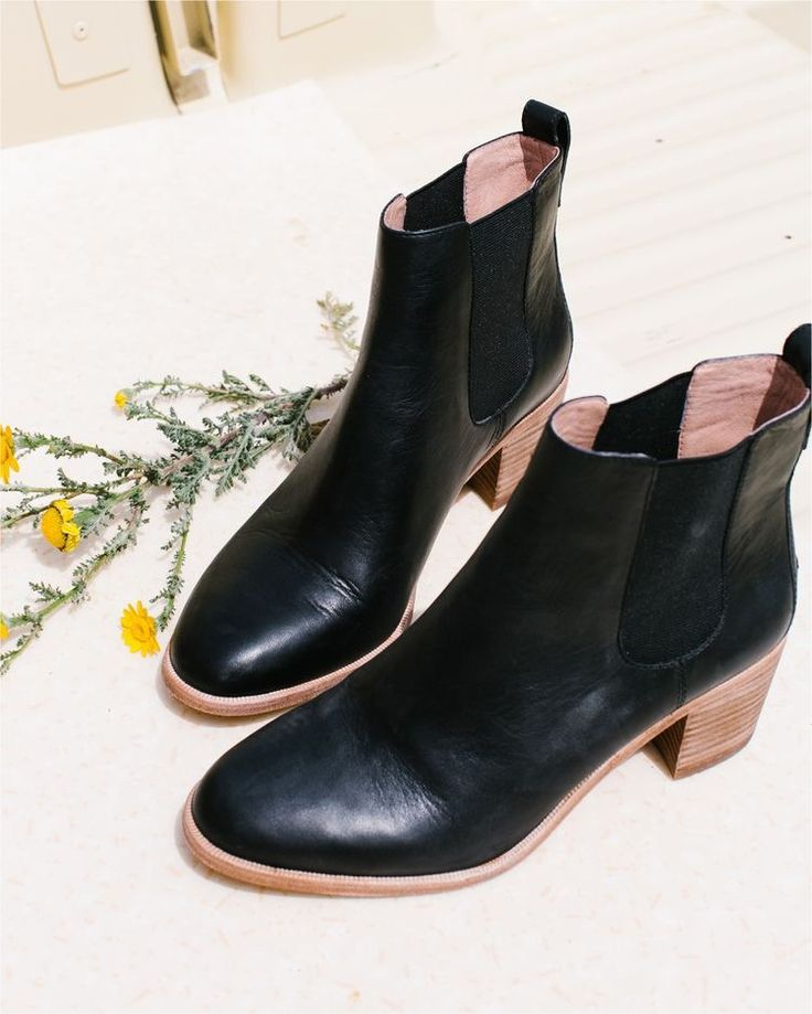 madewell frankie chelsea boot- or a nice pair of leather ankle boots like  this would be nice