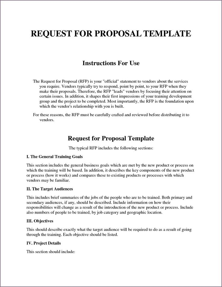 rfp document Google Search (With images) Proposal