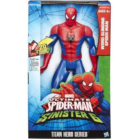 "Ultimate Spider-Man Web Warriors Titan Hero Word-Slinging Spider-Man 12"" Action Figure"