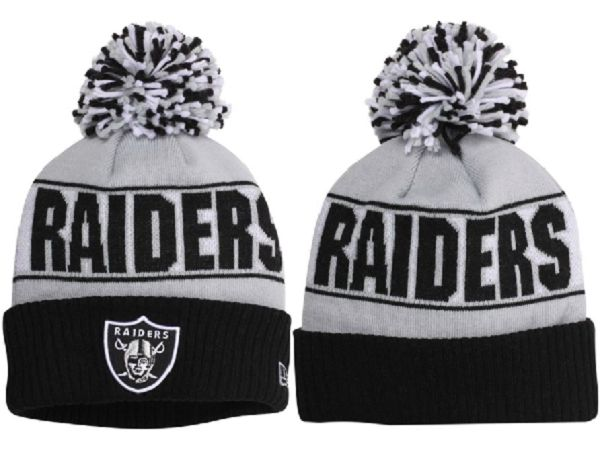 NFL Oakland Raiders Beanie Gray Black