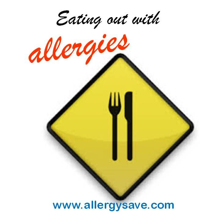 Eating out with Allergies   http://www.allergysave.com