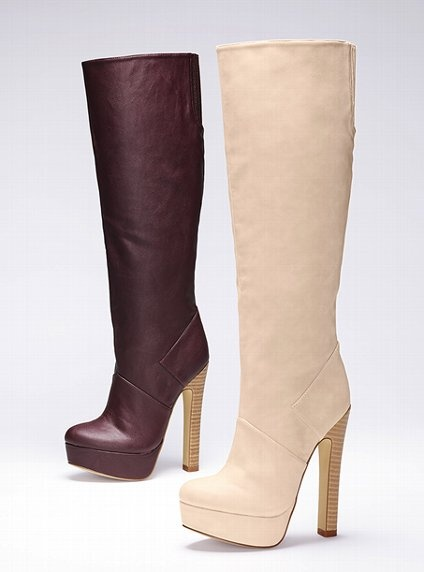 Platform Slouch Boot - Colin Stuart - Victoria's Secret in Winter White, $98