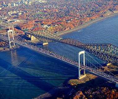 World's Longest Bridges: Quebec Bridge  efore the Quebec Bridge connected Quebec City to Lévis, one of the only ways to cross the St. Lawrence River was to wait for winter's freeze to create an ice bridge. The remedy—and to ensure Quebec could compete with Montreal for rail traffic—was an audacious cantilever bridge.