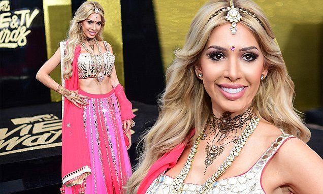 MTV Movie Awards: Farrah Abraham wears Bollywood outfit - Daily Mail #FansnStars