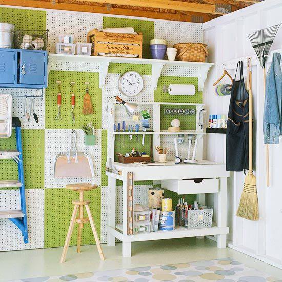 A Garage to Love: Organizations Ideas, Garages, Peg Boards, Garage Organizations, Organizations Garage, House, Garage Ideas, Paintings Pegboard, Garage Storage