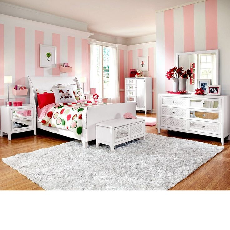 Amore Bedroom Set White The exquisite beauty of contemporary design is  re imagined with. 17 Best images about Kids and Teen Furniture on Pinterest   Lounge