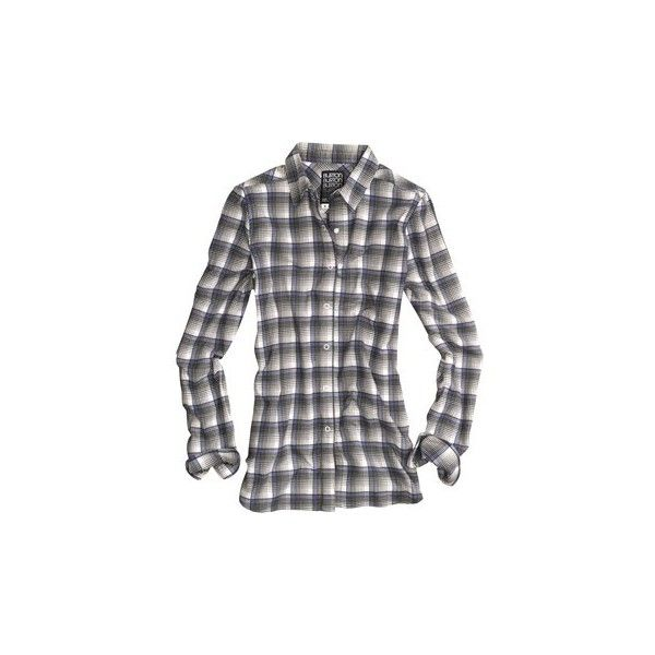 Burton Blitz Flannel Shirt Snap Front, Long Sleeve (For Women) ($46) ❤ liked on Polyvore featuring tops, extra long sleeve shirts, snap front flannel shirts, burton shirts, long sleeve tops and long-sleeve shirt