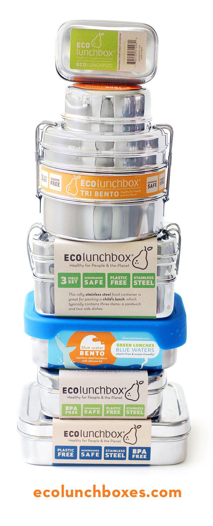 lightweight stainless steel lunch containers these are a perfect alternative to toxic plastic and heavy