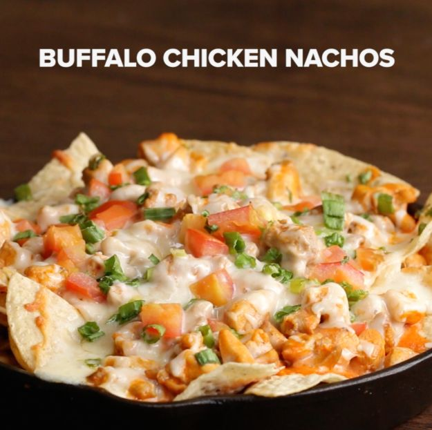 Buffalo Chicken Nachos | Here's Four Drool-Worthy Recipes For Nachos That You Should Make