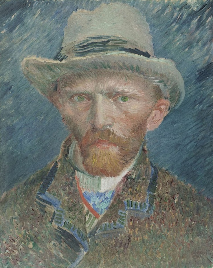 Only 14 more nights until you can see this brilliant self-portrait of today's birthday boy: Vincent van Gogh. He was born exactly 160 years ago today. This painting is one of the first he painted in Paris. He painted self-portraits to save on the costs of hiring a model.