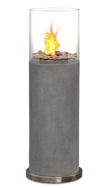 Revelation Ventless Fire Column Gray: Revelation Ventless, Ventless Fire, Fire Column, Column Gray, Contemporary Fireplaces, Jackson Miller House, Basement Ideas