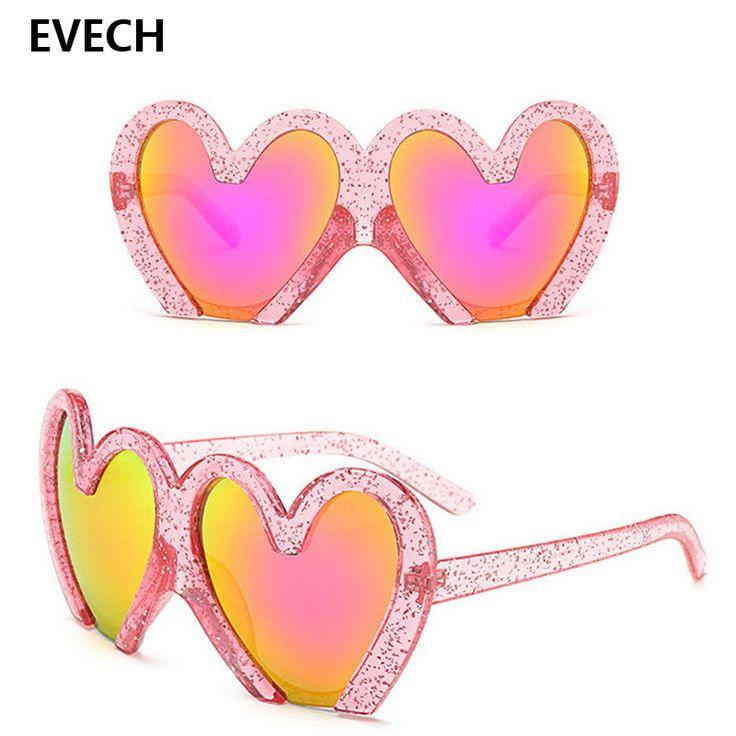 EVECH Love Heart Shape Women Sunglasses 2017 Brand Designer Vintage Steampunk Sun Glasses Men Retro Eyewear Summer Beach Glasses #Affiliate